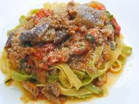 茄子蕃茄肉醬義大利寬麵