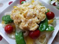 嫩蛋炒豆子高麗菜蕃茄