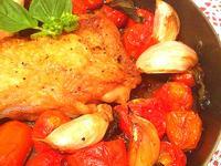 義式大蒜番茄羅勒烤雞