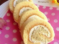 地瓜綠豆沙蛋糕卷(自製烤模)