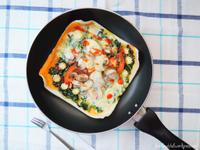 春捲皮菠菜披薩- 免烤箱版