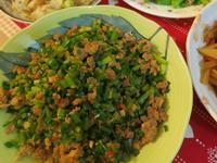 超下飯的韭菜炒肉末