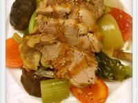 黃芥末烤豬肉佐烤時蔬