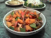 彩椒丁香魚