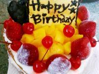 <小新手貝貝>水果生日蛋糕