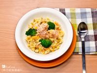 菲姐私房菜-南瓜鮭魚燉飯