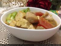 綠咖哩豆腐松板豬(穀盛綠咖哩)