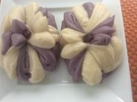 花式麵食之二:紫薯蓮花包