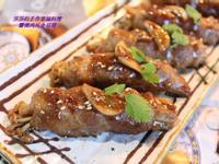 醬燒肉片金菇捲