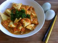 【蟹黃豆腐煲】鹹鹹甜甜豆腐料理