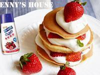 草莓鬆餅 - 蛋糕鬆餅款『鷹牌煉奶』