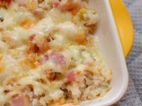 [剩飯變身] 起司培根奶油蔬菜焗烤飯