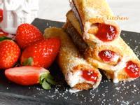 奶香草莓法式吐司捲【鷹牌煉奶】