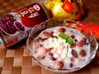 棉花糖撞奶紅豆湯圓【泰山紫米紅豆湯】
