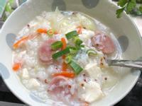 高麗菜香腸鹹粥/抗疫輕鬆一鍋煮
