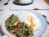 沙茶羊肉空心菜