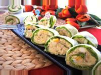 鮮蔬馬鈴薯鮪魚雞肉捲