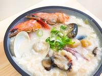 鮮蝦蛤蠣煉高湯海鮮粥