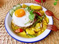 椰奶地瓜蘆筍雞肉咖哩飯