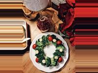 簡單美味的聖誕花圈沙拉-口西