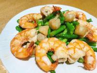 超下飯😋鮮蝦干貝炒蘆筍