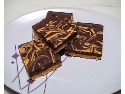 巧克力花生方塊餅(免烤)