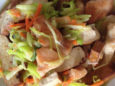 韭黃豆干雞肉片