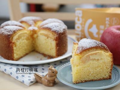 用鬆餅粉製作蘋果蛋糕