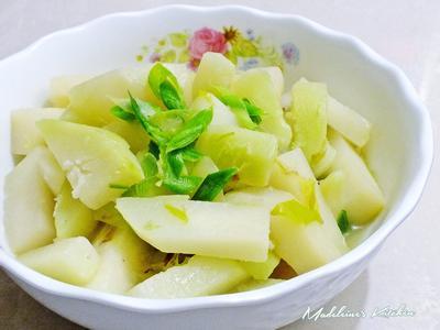 蒜苗炒大頭菜