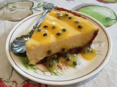 微波爐版~百香果醬重乳酪蛋糕