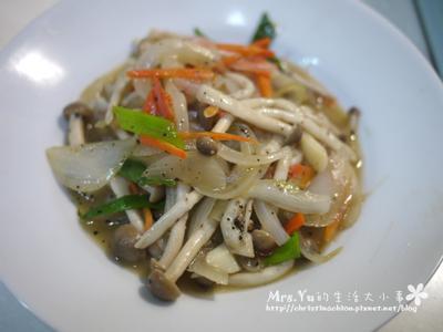 黑珍珠菇炒洋蔥