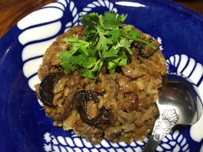 香菇梅花肉油飯(電子鍋)