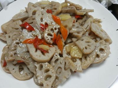 醋炒蓮藕片