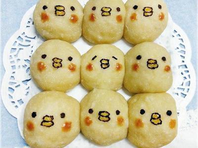 小雞造型養樂多餐包(萌萌手撕麵包)
