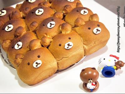 超萌超療癒~熊大手撕麵包
