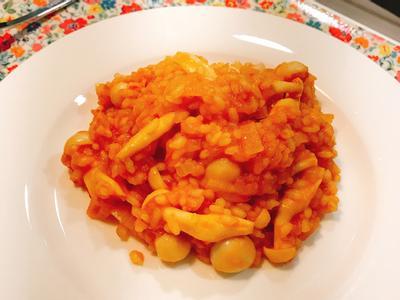 義式番茄雪白菇燉飯