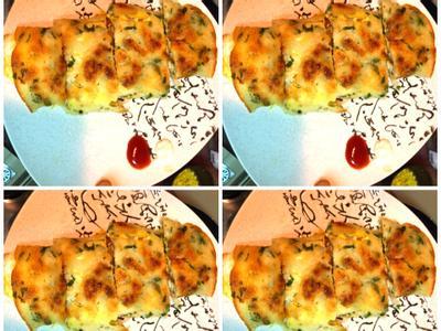 古早味九層塔玉米蛋餅 (自製餅皮)