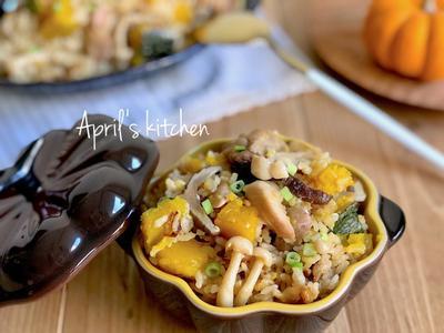 香甜雞肉南瓜菇菇炊飯