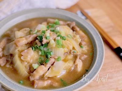 白菜燴五花肉