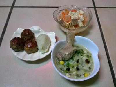 鮮食🐾蔬菜丸 冬瓜豆腐蒸魚 山藥紅棗粥