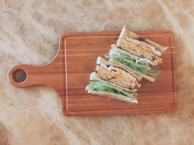 S廚房🍽雞胸肉漢堡排三明治