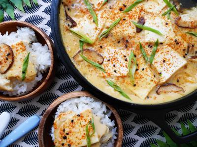 日式滑蛋豆腐(銅板料理+蛋奶素)