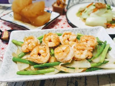 鮮蝦炒蘆筍洋蔥