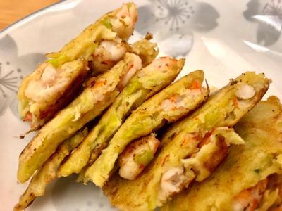 韭黃鮮蝦煎餅
