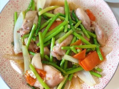 醬燒蘆筍雞丁
