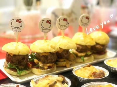 mini迷你手工牛肉漢堡❤️