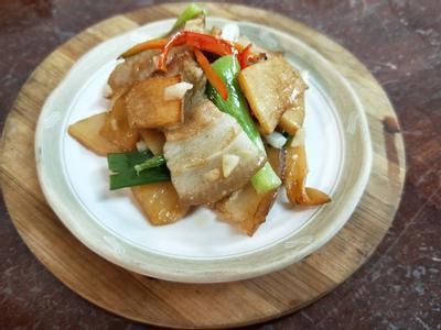 雞油炒三層肉脆筍