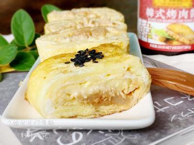 韓式金菇起司厚蛋燒