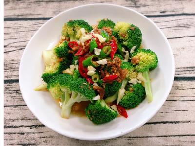 蒜香青花椰菜(水波爐料理)