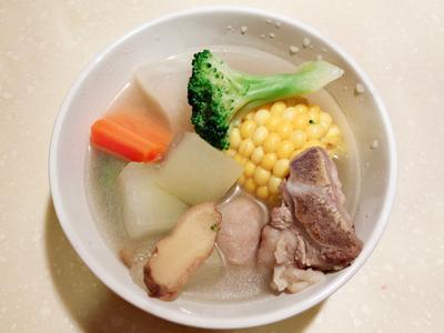 冬瓜排骨蔬菜湯